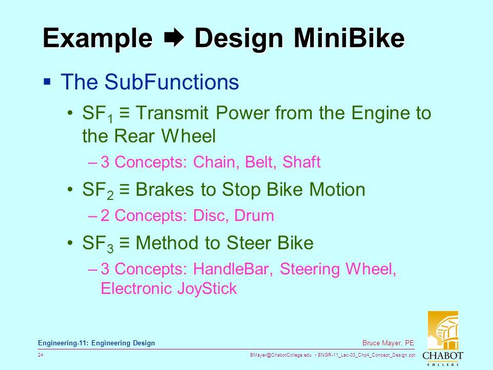 Example  Design MiniBike