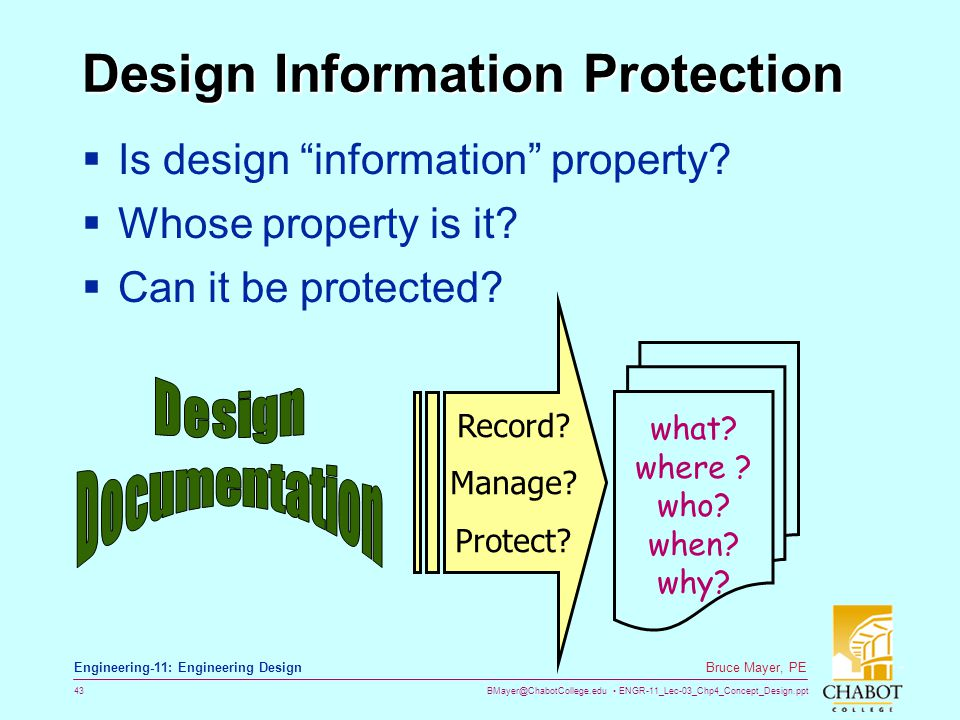 Design Information Protection