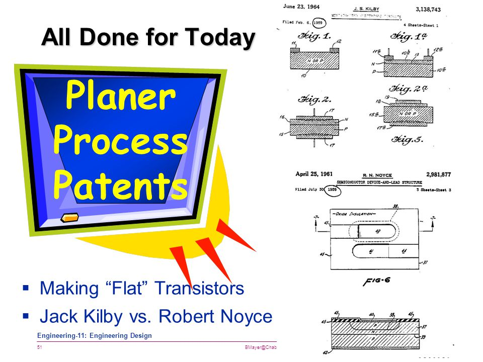 Planer Process Patents