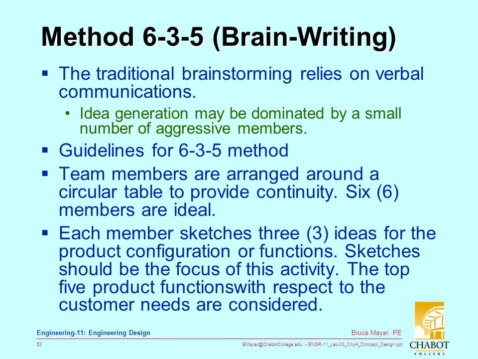 Method 6-3-5 (Brain-Writing)