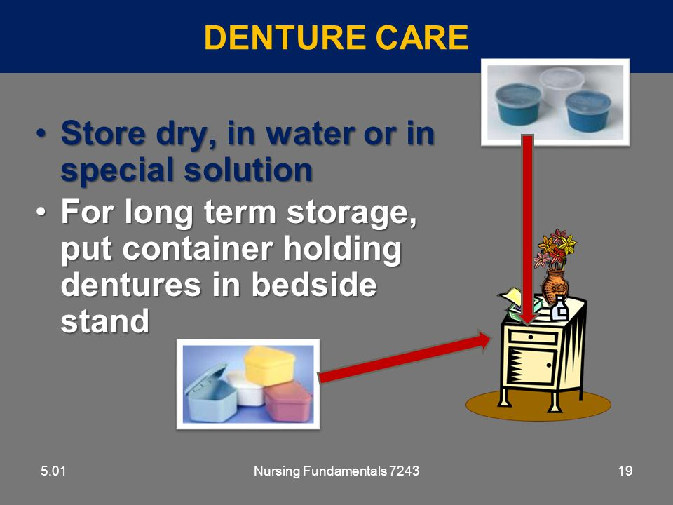 Store dry, in water or in special solution