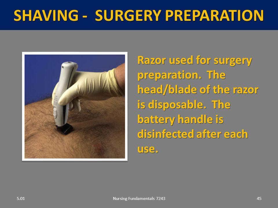 SHAVING - Surgery preparation