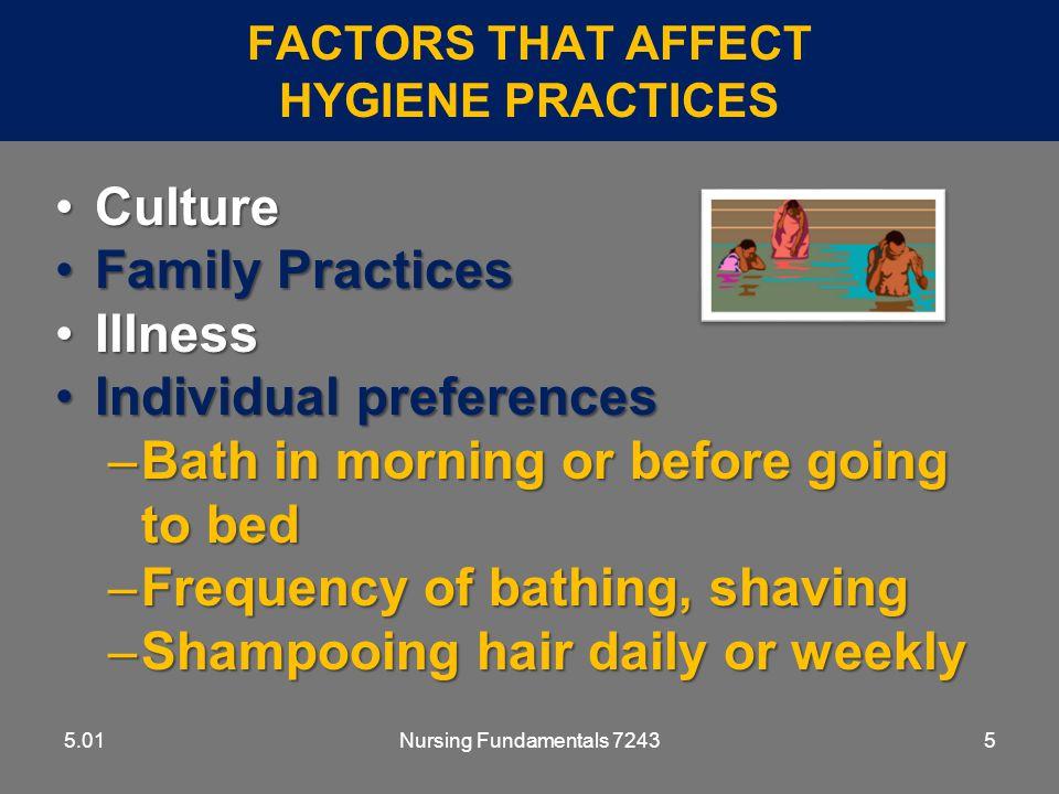 Factors That Affect Hygiene Practices