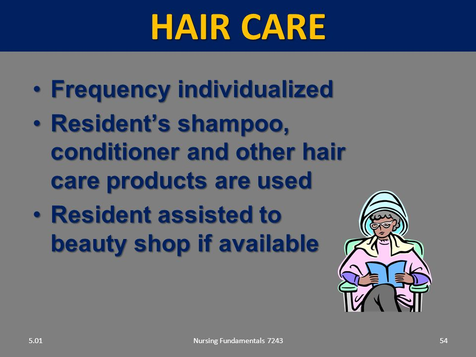 Hair care Frequency individualized