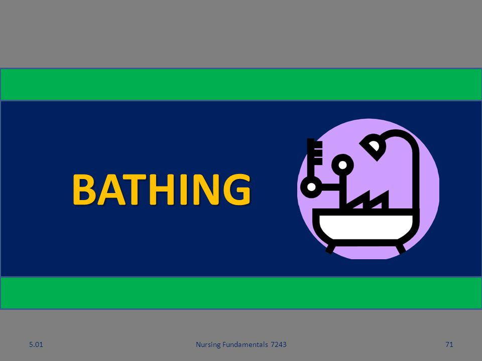5.01 BATHING 5.01 Nursing Fundamentals 7243 Hygiene and Grooming