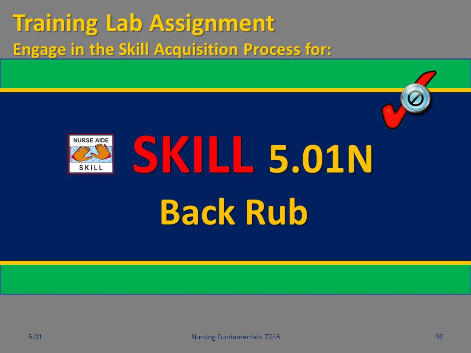 SKILL 5.01N Back Rub Training Lab Assignment