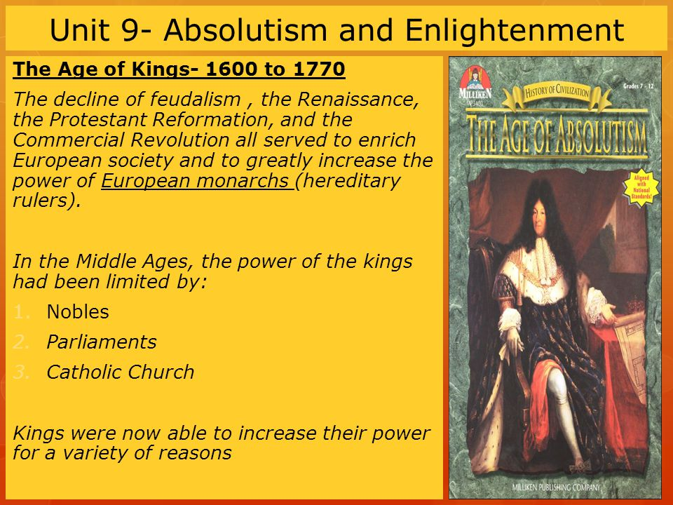 Unit 9- Absolutism and Enlightenment