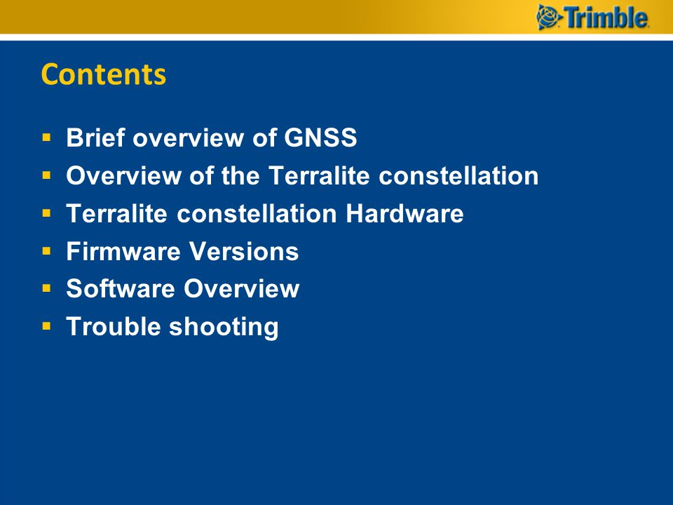 Contents Brief overview of GNSS