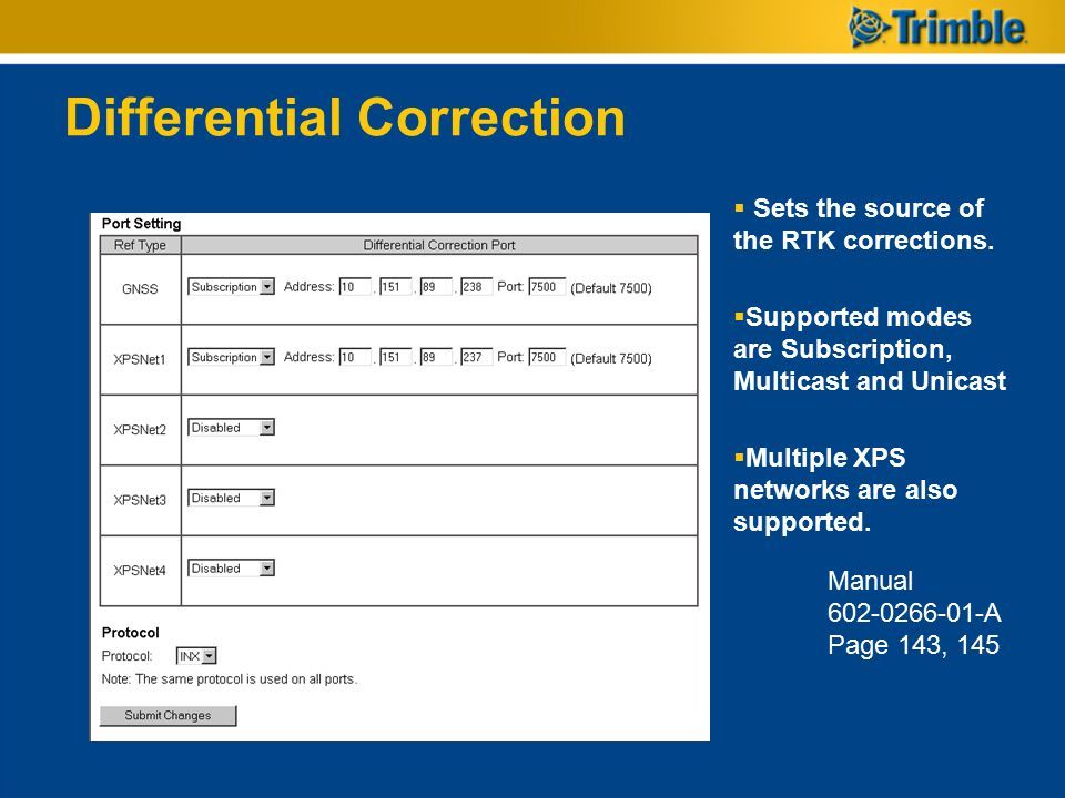 Differential Correction
