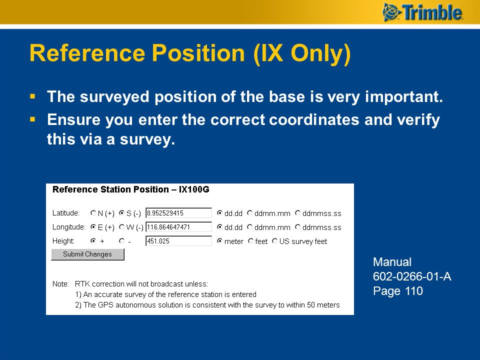 Reference Position (IX Only)