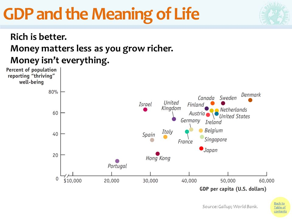 GDP and the Meaning of Life