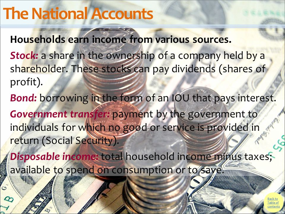 The National Accounts