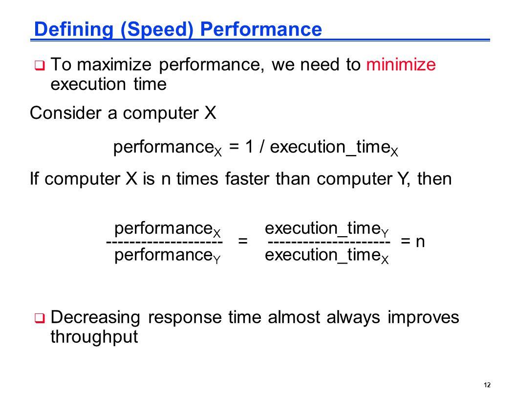 Defining (Speed) Performance