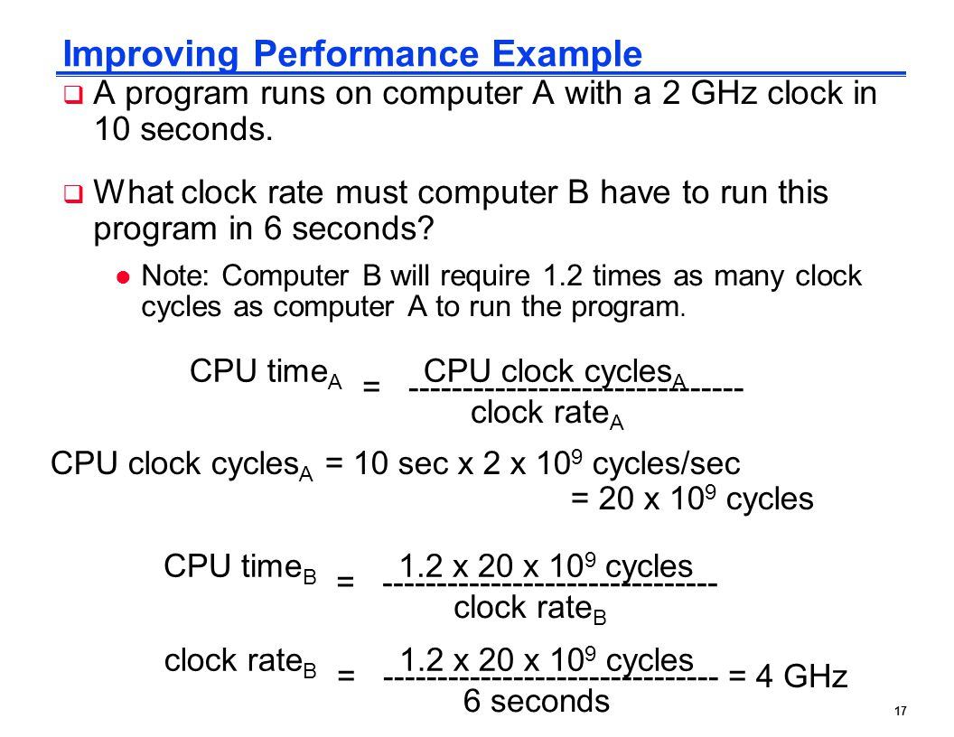 Improving Performance Example