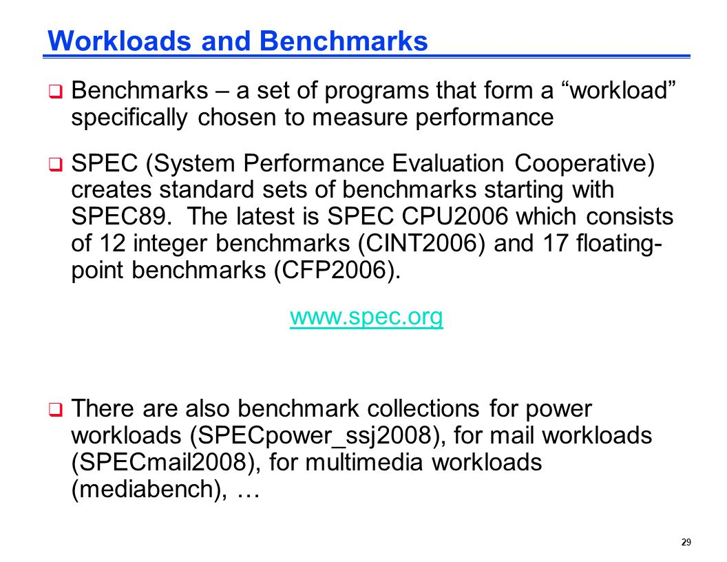 Workloads and Benchmarks