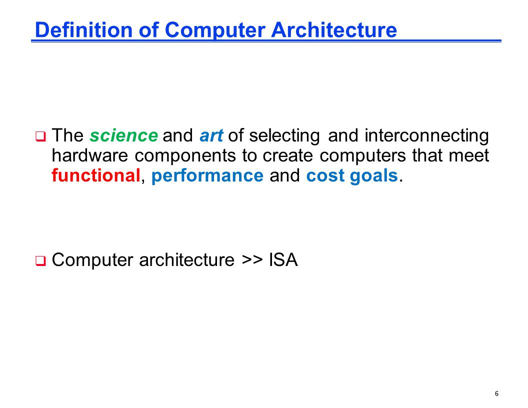 Definition of Computer Architecture