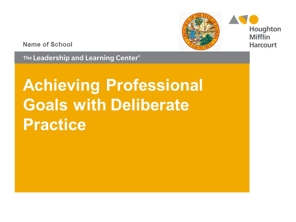 Achieving Professional Goals with Deliberate Practice