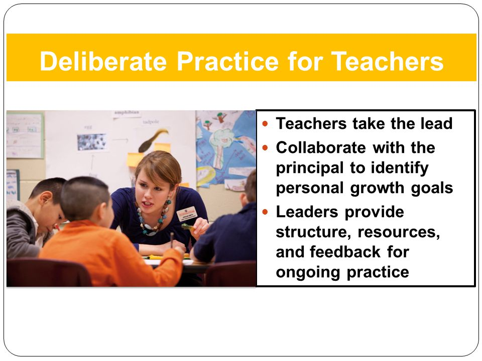 Deliberate Practice for Teachers