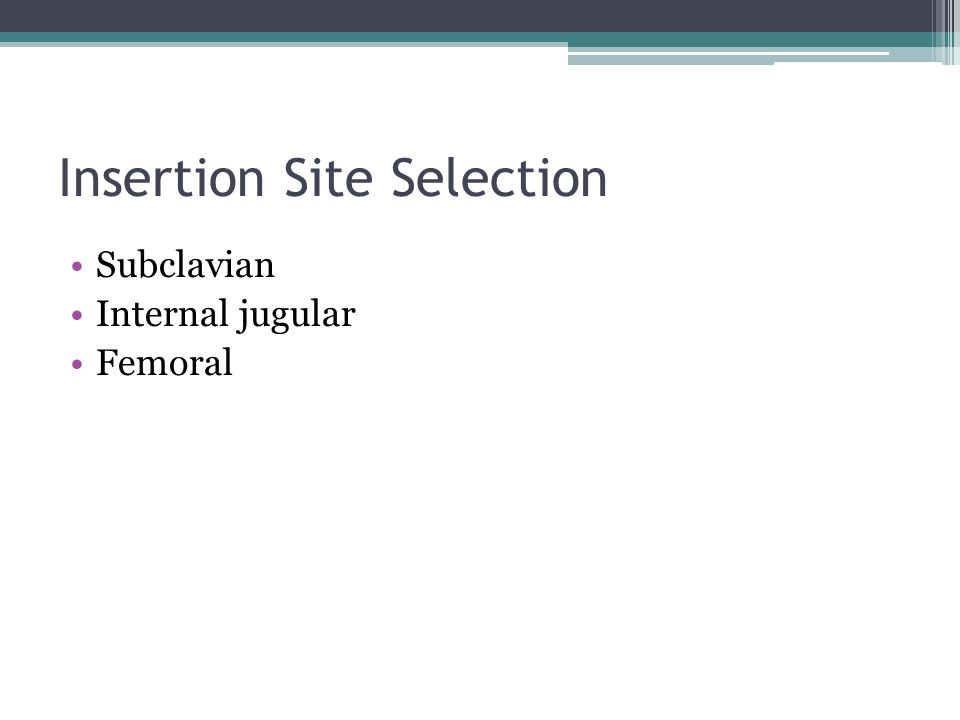 Insertion Site Selection