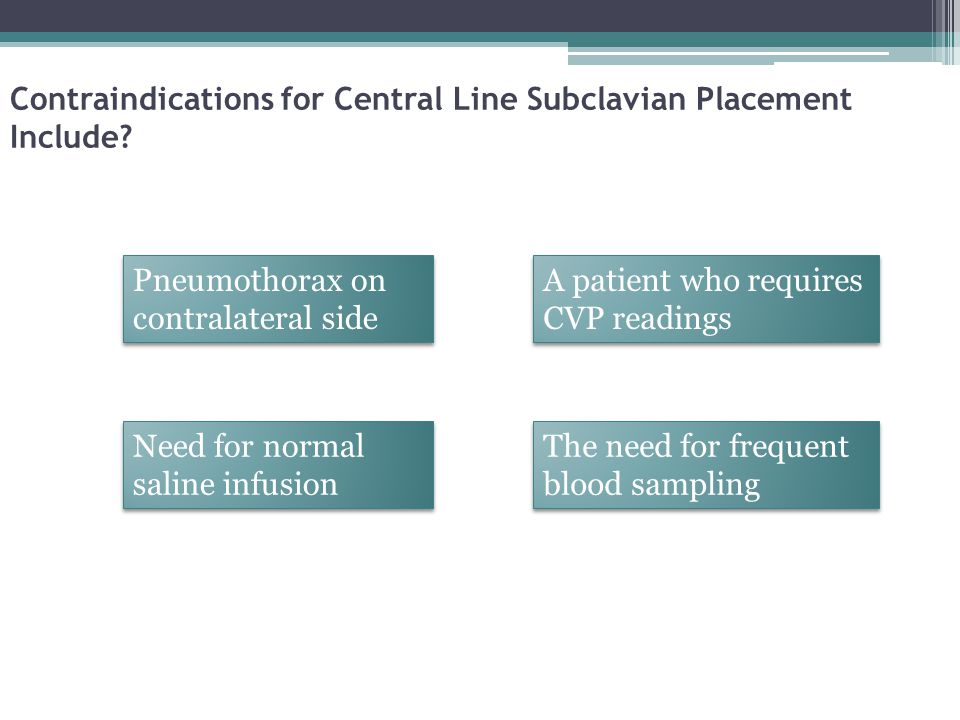 Contraindications for Central Line Subclavian Placement Include