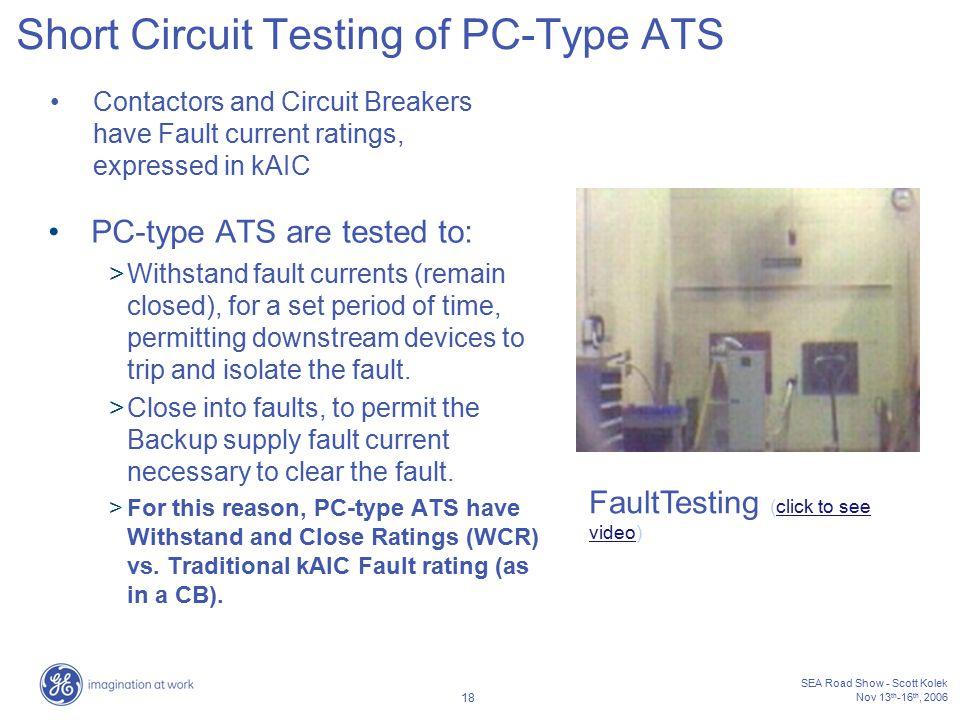Short Circuit Testing of PC-Type ATS