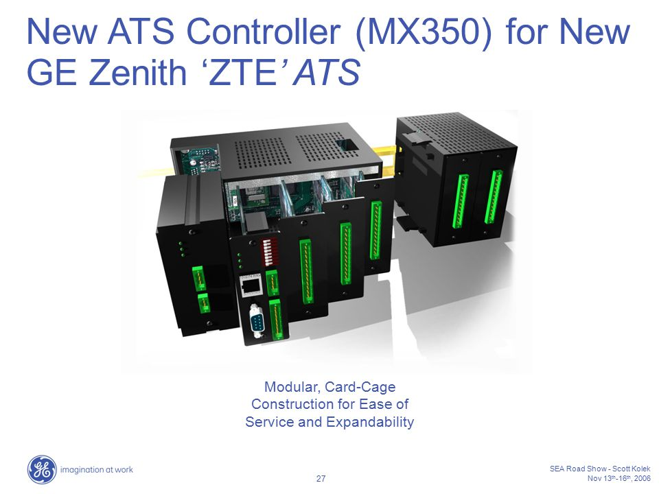 Modular, Card-Cage Construction for Ease of Service and Expandability