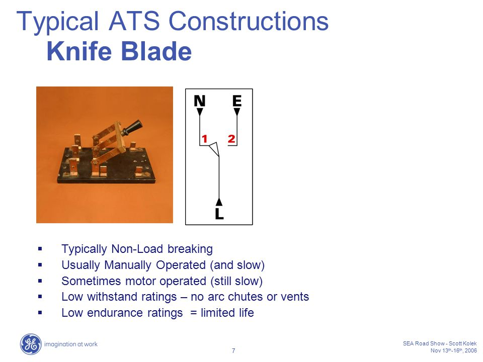 Typical ATS Constructions Knife Blade