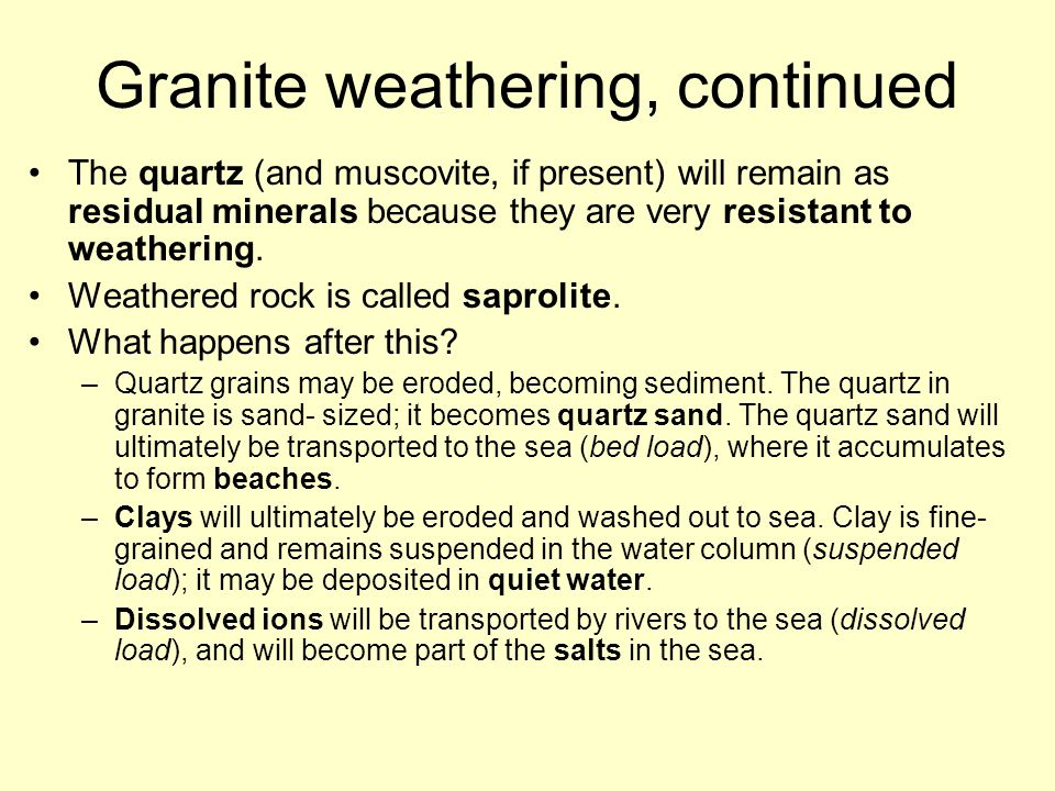 Granite weathering, continued