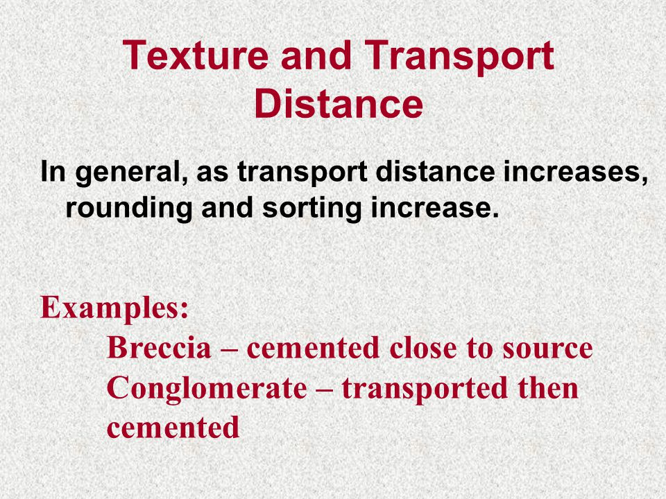 Texture and Transport Distance