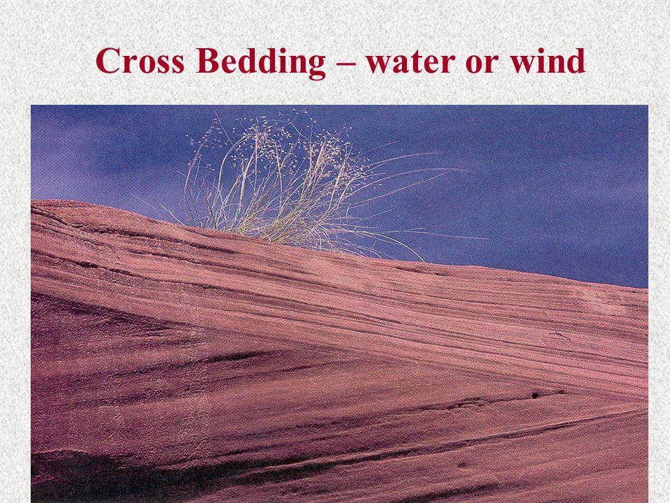Cross Bedding – water or wind