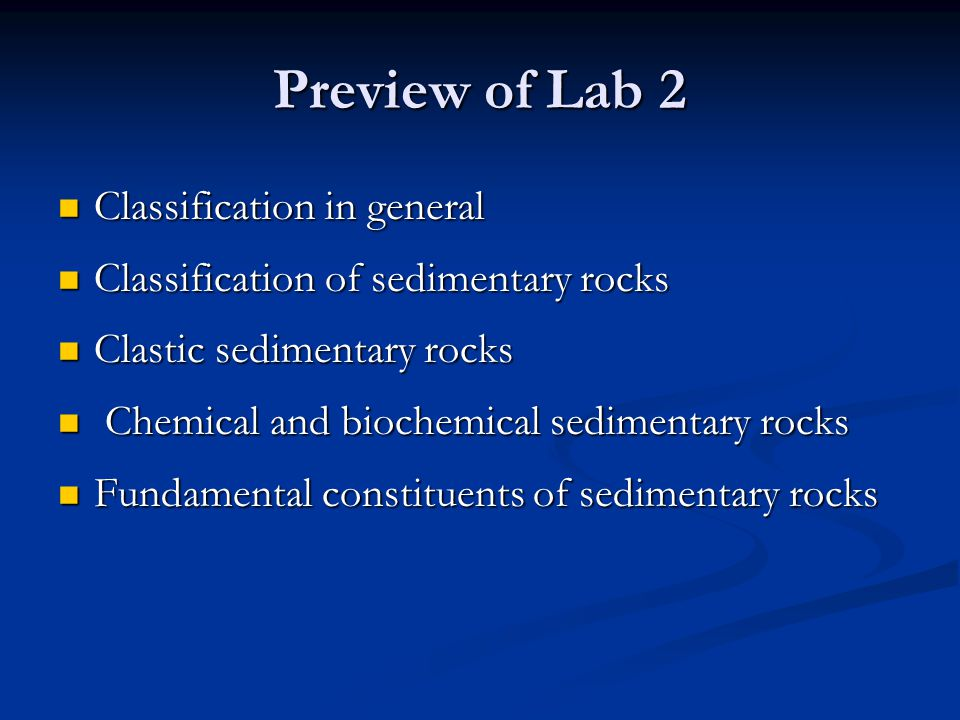 Preview of Lab 2 Classification in general