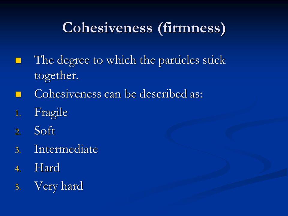 Cohesiveness (firmness)