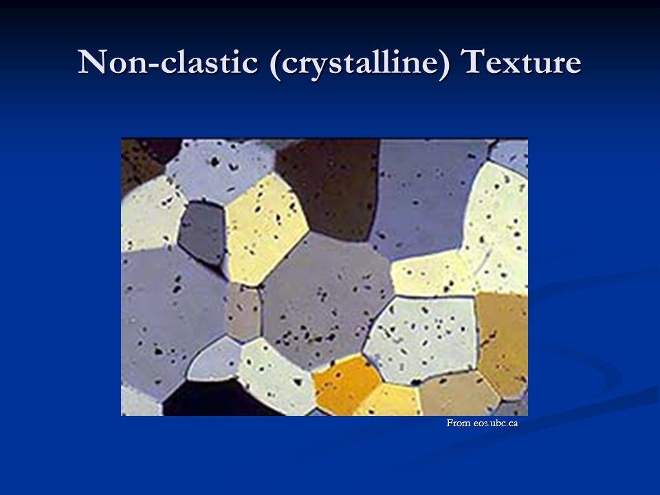 Non-clastic (crystalline) Texture
