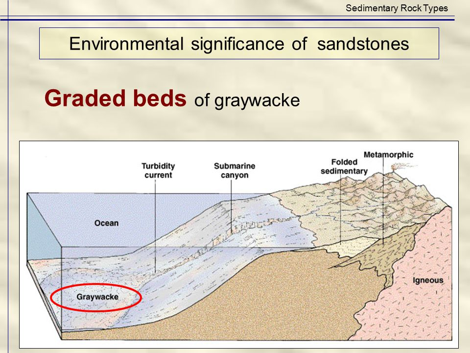 Environmental significance of sandstones
