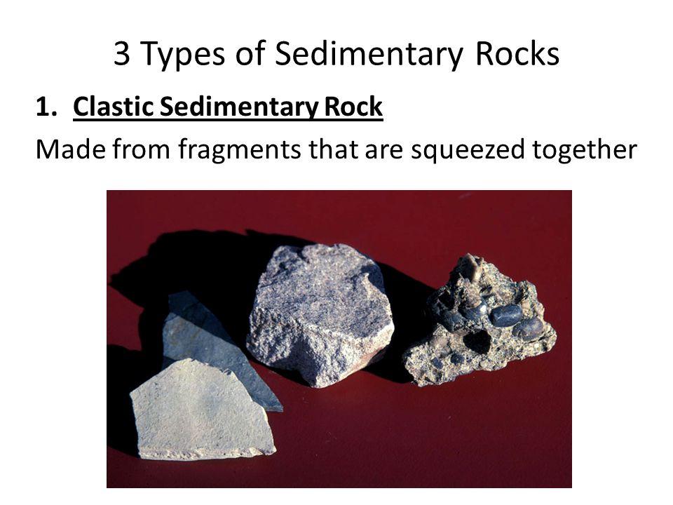 3 Types of Sedimentary Rocks