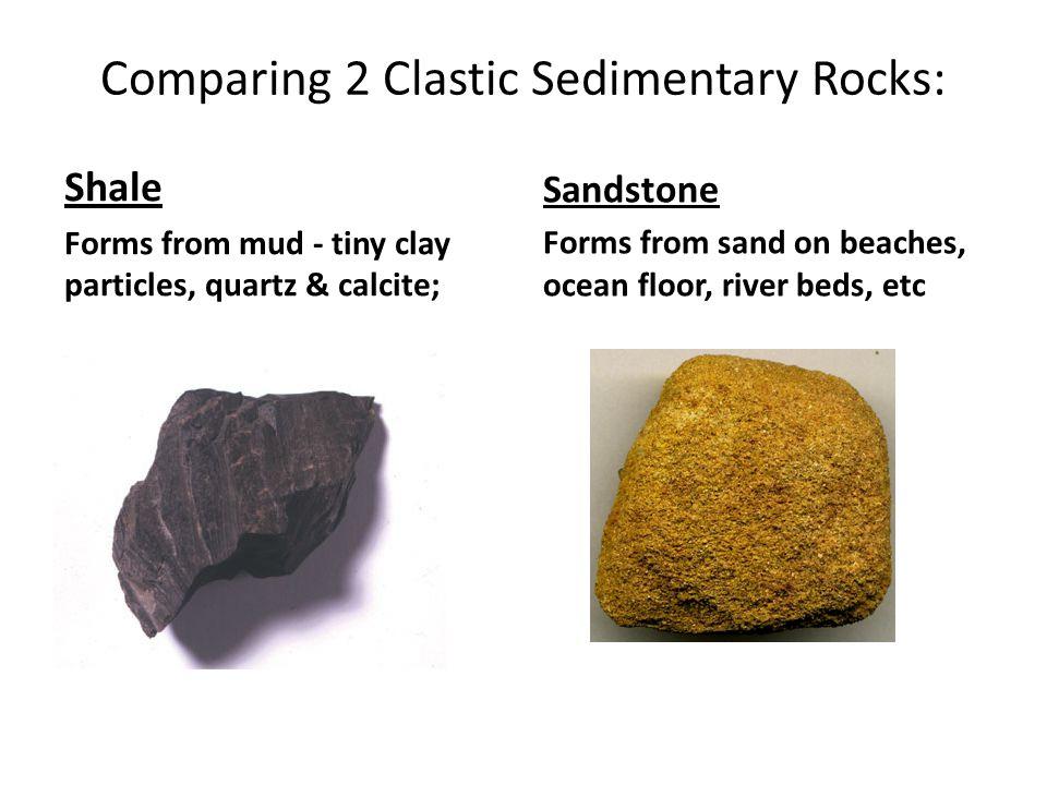 Comparing 2 Clastic Sedimentary Rocks: