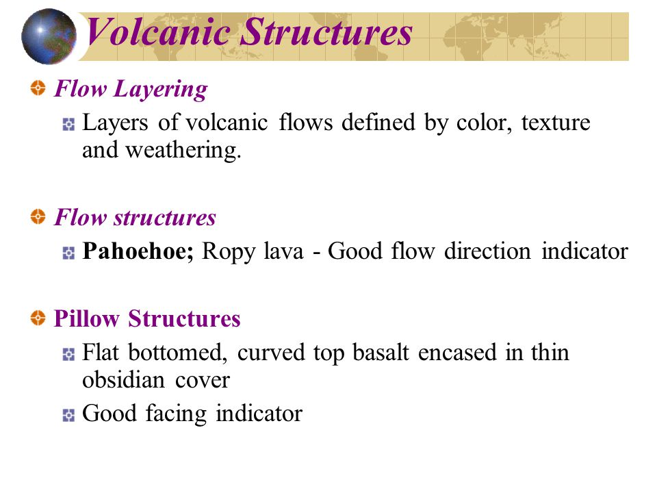 Volcanic Structures Flow Layering