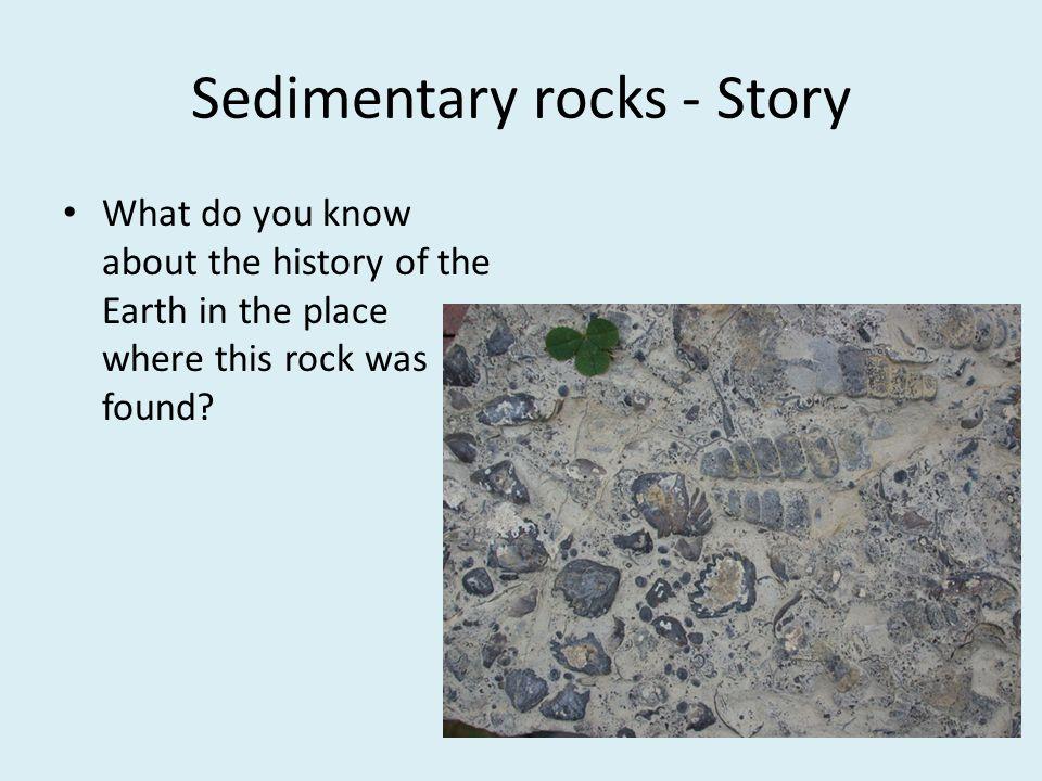 Sedimentary rocks - Story