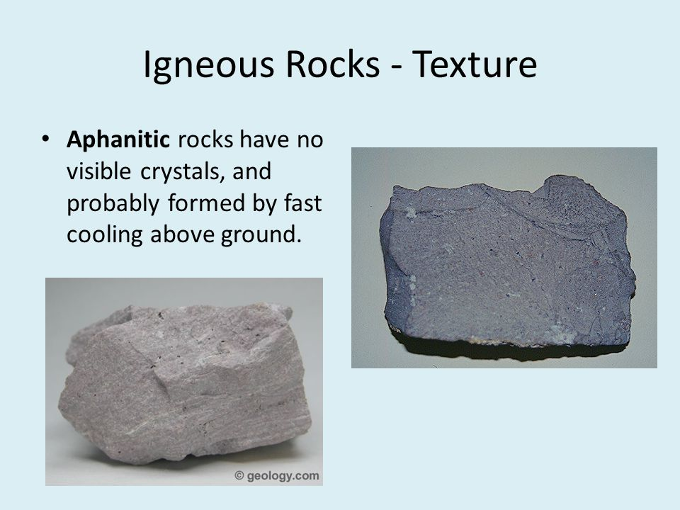 Igneous Rocks - Texture