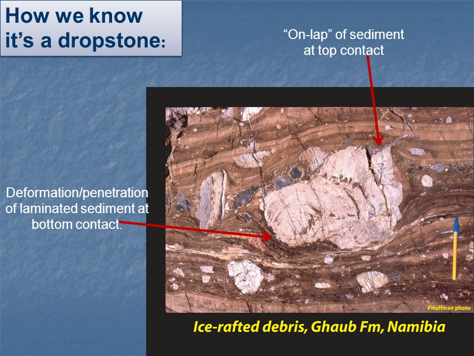 How we know it's a dropstone: