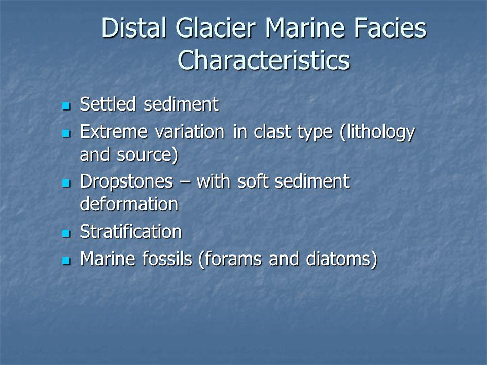 Distal Glacier Marine Facies Characteristics