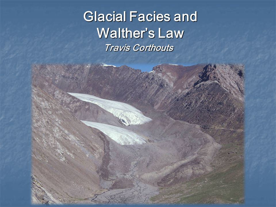 Glacial Facies and Walther's Law
