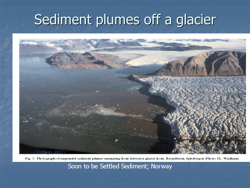 Sediment plumes off a glacier