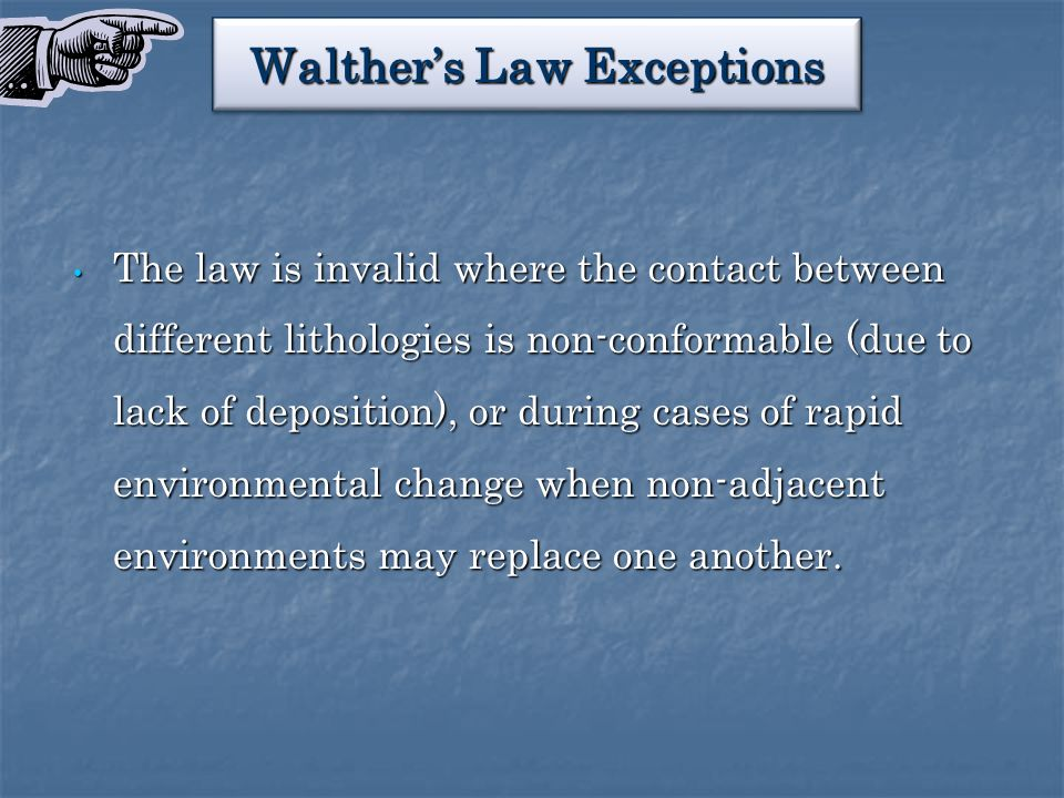 Walther's Law Exceptions