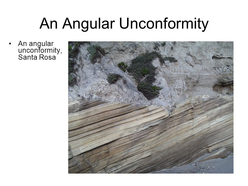 An Angular Unconformity