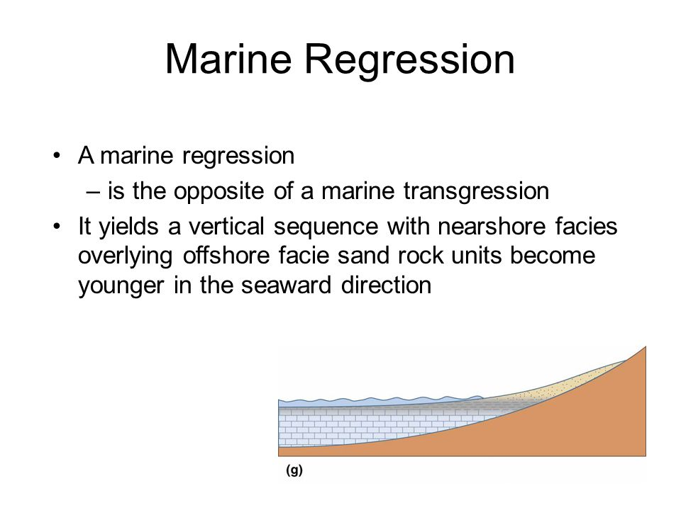 Marine Regression A marine regression
