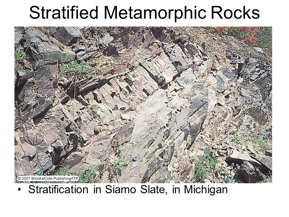 Stratified Metamorphic Rocks