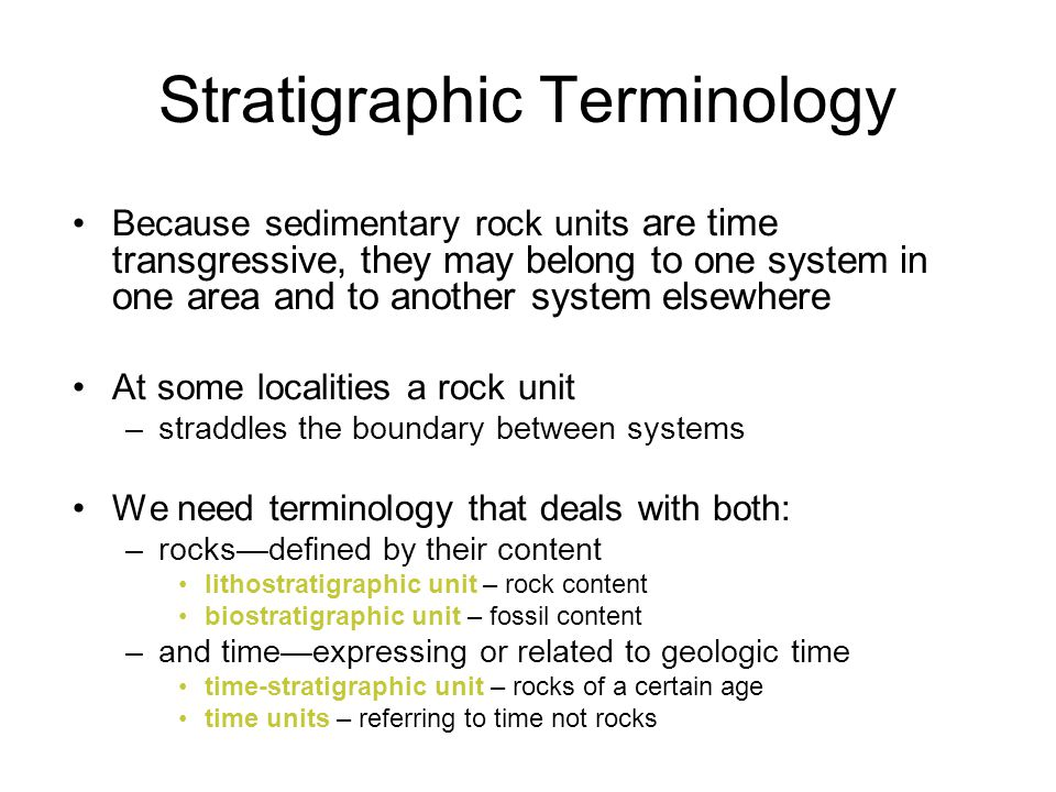 Stratigraphic Terminology