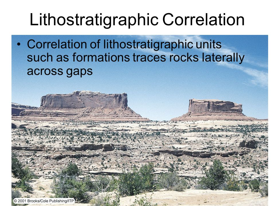 Lithostratigraphic Correlation