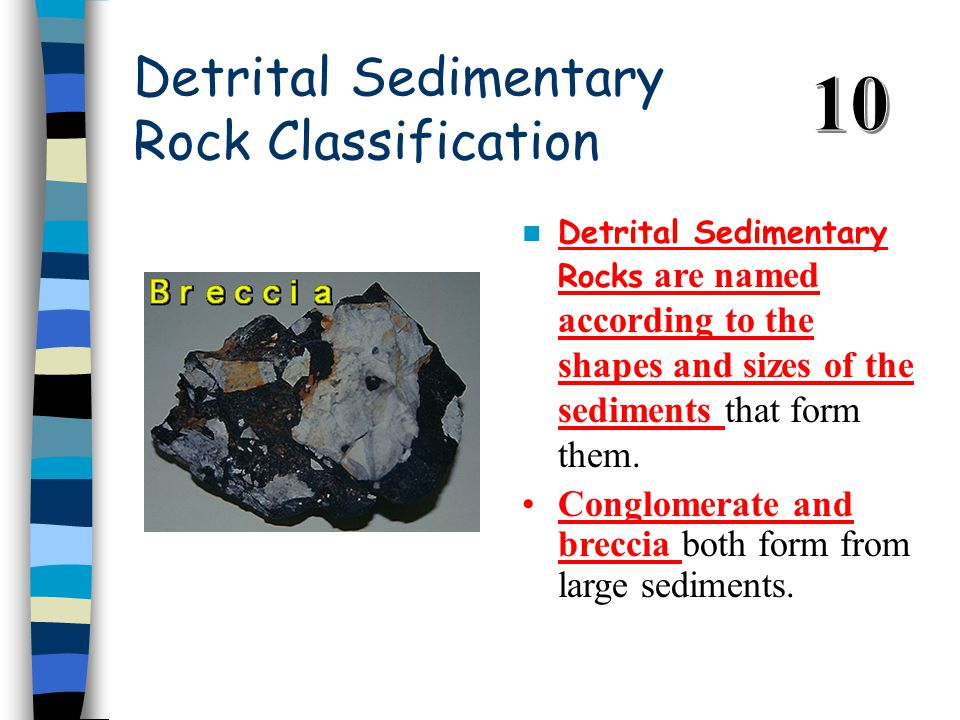 Detrital Sedimentary Rock Classification